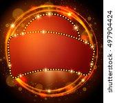 abstract shining retro light... | Shutterstock .eps vector #497904424