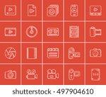 media sketch icon set for web ... | Shutterstock .eps vector #497904610