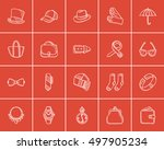 accessories sketch icon set for ...   Shutterstock .eps vector #497905234