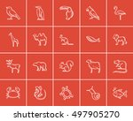 animals sketch icon set for web ... | Shutterstock .eps vector #497905270
