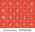 circus sketch icon set for web  ... | Shutterstock .eps vector #497905300