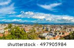 aerial view of ljubljana in... | Shutterstock . vector #497905984