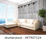 modern bright interior . 3d... | Shutterstock . vector #497907124