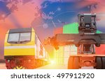 industry container trains... | Shutterstock . vector #497912920