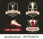 american football badge with... | Shutterstock . vector #497914474
