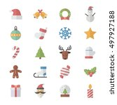 christmas icons. | Shutterstock .eps vector #497927188