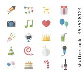 flat color icons design set of...   Shutterstock .eps vector #497928124