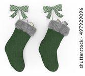 Dark Green Christmas Stockings...