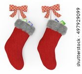 Red Christmas Stockings On The...