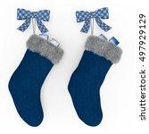 Dark Blue Christmas Stockings...