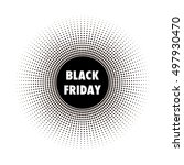 black friday tag  round banner  ... | Shutterstock .eps vector #497930470