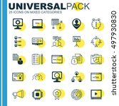 set of 25 universal icons on... | Shutterstock .eps vector #497930830
