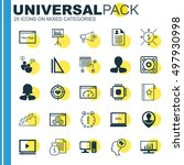 set of 25 universal icons on... | Shutterstock .eps vector #497930998