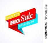big sale  special offer banner. ... | Shutterstock .eps vector #497931313