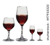 polygonal glass alcohol drinks...   Shutterstock .eps vector #497933320
