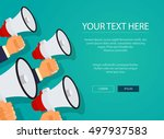 digital marketing with a... | Shutterstock .eps vector #497937583