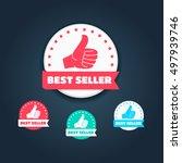 best seller thumbs up labels | Shutterstock .eps vector #497939746
