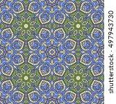 seamless oriental ornamental... | Shutterstock .eps vector #497943730