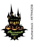 halloween. trick or treat.... | Shutterstock .eps vector #497944258