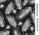 seamless pattern with brush... | Shutterstock .eps vector #497944840