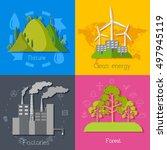 flat design of ecology ... | Shutterstock .eps vector #497945119
