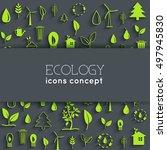 flat eco background concept....   Shutterstock .eps vector #497945830