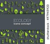 flat eco background concept....   Shutterstock .eps vector #497945920