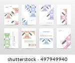 geometric background template... | Shutterstock .eps vector #497949940