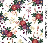 floral seamless pattern.vector... | Shutterstock .eps vector #497951614