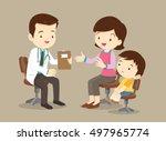 vector illustration of a mom... | Shutterstock .eps vector #497965774