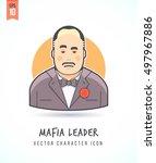 mafia boss illustration people... | Shutterstock .eps vector #497967886