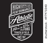 athletic sport typography  t... | Shutterstock .eps vector #497973340