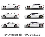 realistic car set. cabriolet... | Shutterstock .eps vector #497993119