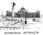 hand drawing on white... | Shutterstock .eps vector #497993179