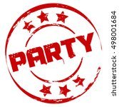 red party stamp | Shutterstock .eps vector #498001684