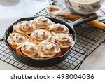 Cinnamon Rolls Baked In A Cast...