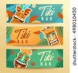 tiki tribal mask   hawaiian... | Shutterstock .eps vector #498010450