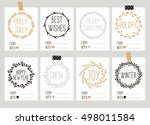 set with merry christmas and... | Shutterstock .eps vector #498011584