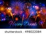 illustration of firecracker on... | Shutterstock .eps vector #498022084