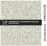 commerce and shopping icon set... | Shutterstock .eps vector #498022438