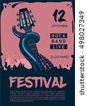 music poster template for rock... | Shutterstock .eps vector #498027349