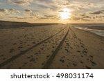 Traces In The North Sea Beach...