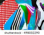 graffiti on a fence. | Shutterstock . vector #498032290
