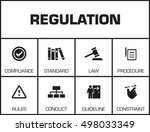 regulations. chart with... | Shutterstock .eps vector #498033349