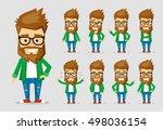 character men hipster. a... | Shutterstock .eps vector #498036154