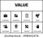 value. chart with keywords and... | Shutterstock .eps vector #498041476