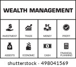 wealth management. chart with... | Shutterstock .eps vector #498041569