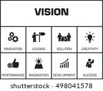 vision. chart with keywords and ... | Shutterstock .eps vector #498041578