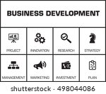 business development. chart... | Shutterstock .eps vector #498044086
