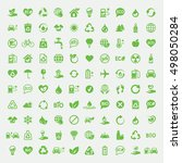 eco bio green simple icons om... | Shutterstock .eps vector #498050284